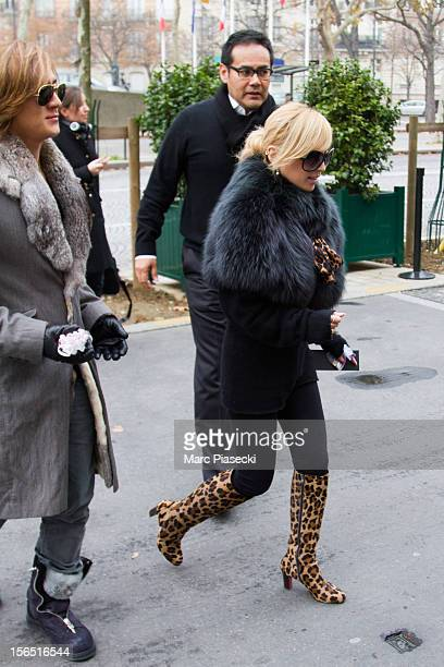 Singer Ayumi Hamasaki and boyfriend Maro are seen leaving their hotel on November 16 2012 in Paris France