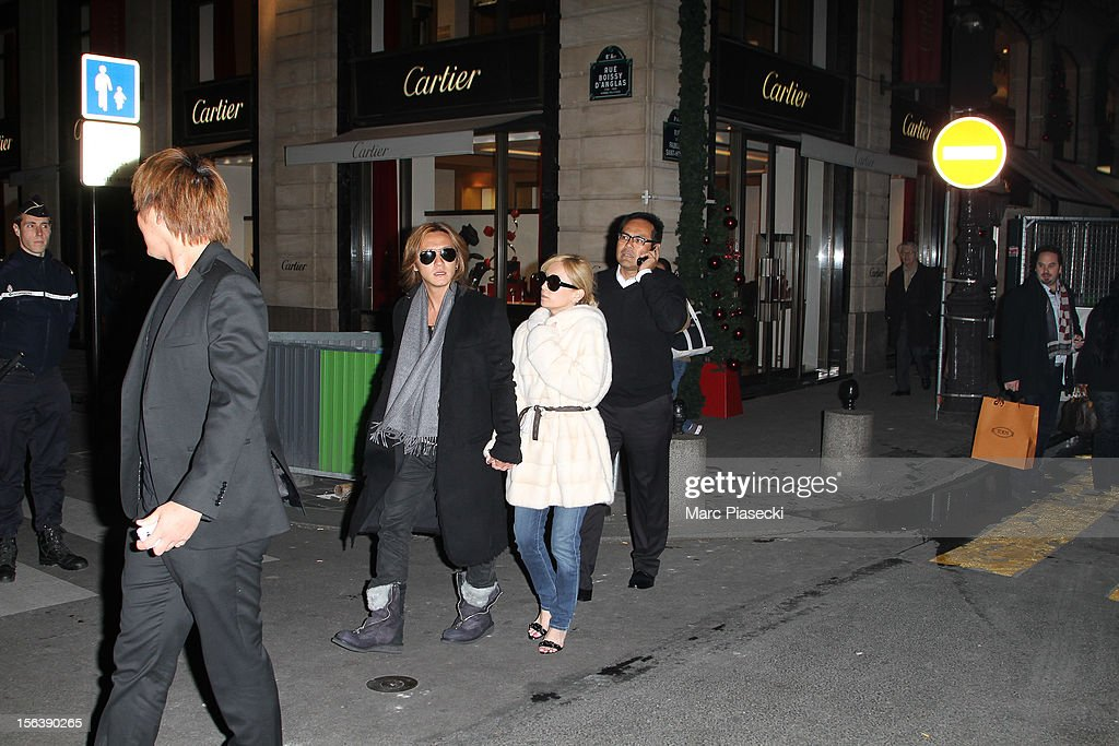 Singer <a gi-track='captionPersonalityLinkClicked' href=/galleries/search?phrase=Ayumi+Hamasaki&family=editorial&specificpeople=2371548 ng-click='$event.stopPropagation()'>Ayumi Hamasaki</a> and boyfriend Maro are seen strolling in 'Rue du Faubourg Saint Honore' on November 14, 2012 in Paris, France.