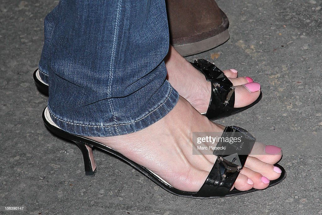 Singer <a gi-track='captionPersonalityLinkClicked' href=/galleries/search?phrase=Ayumi+Hamasaki&family=editorial&specificpeople=2371548 ng-click='$event.stopPropagation()'>Ayumi Hamasaki</a> (shoe detail) as she signs autographs at her hotel on November 14, 2012 in Paris, France.