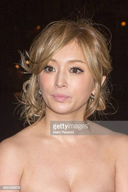 Singer Ayumi Hamasaki attends the 'Buddha 2' Paris Premiere at the 'Pont des Arts' Bridge on January 27 2014 in Paris France