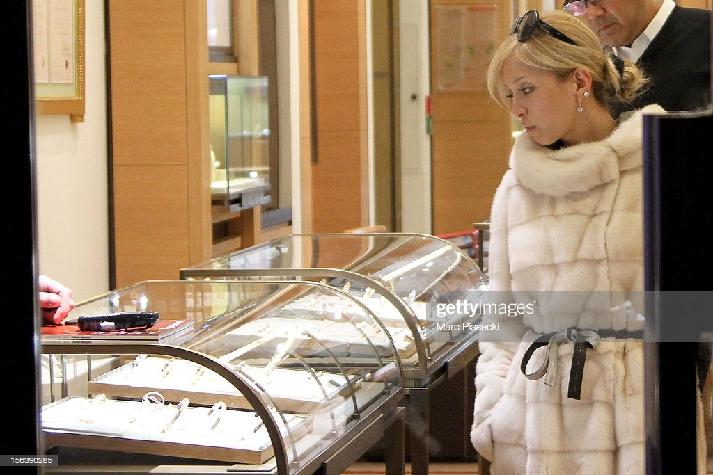 Singer <a gi-track='captionPersonalityLinkClicked' href=/galleries/search?phrase=Ayumi+Hamasaki&family=editorial&specificpeople=2371548 ng-click='$event.stopPropagation()'>Ayumi Hamasaki</a> is seen at the 'Cartier' store in 'Rue du Faubourg Saint Honore' on November 14, 2012 in Paris, France.