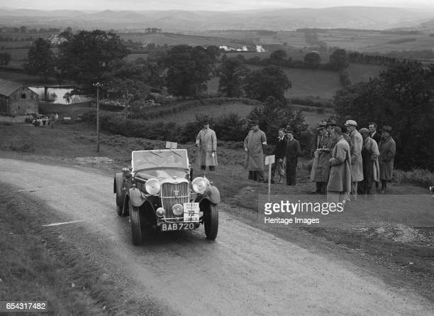 Singer B37 15 litre sports of Alf Langley competing in the South Wales Auto Club Welsh Rally 1937 Artist Bill Brunell Singer B37 15 litre Sports 1937...