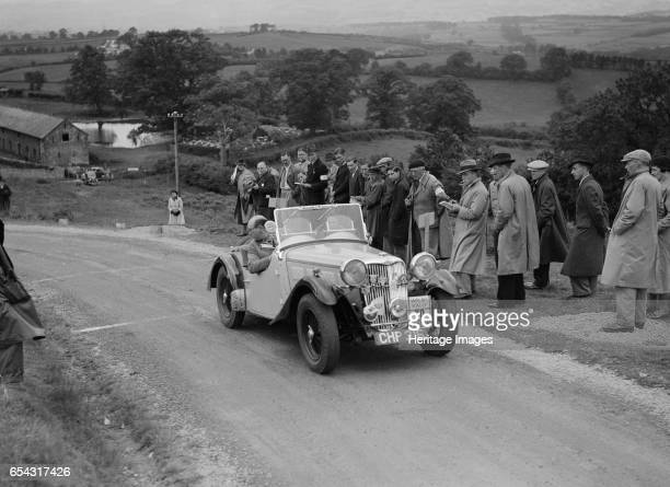 Singer B37 15 litre sports of DE Harris competing in the South Wales Auto Club Welsh Rally 1937 Artist Bill Brunell Singer B37 15 litre Sports 1937...