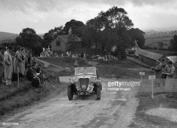 Singer B37 15 litre sports of WC Butler competing in the South Wales Auto Club Welsh Rally 1937 Artist Bill Brunell Singer B37 15 litre Sports 1937...