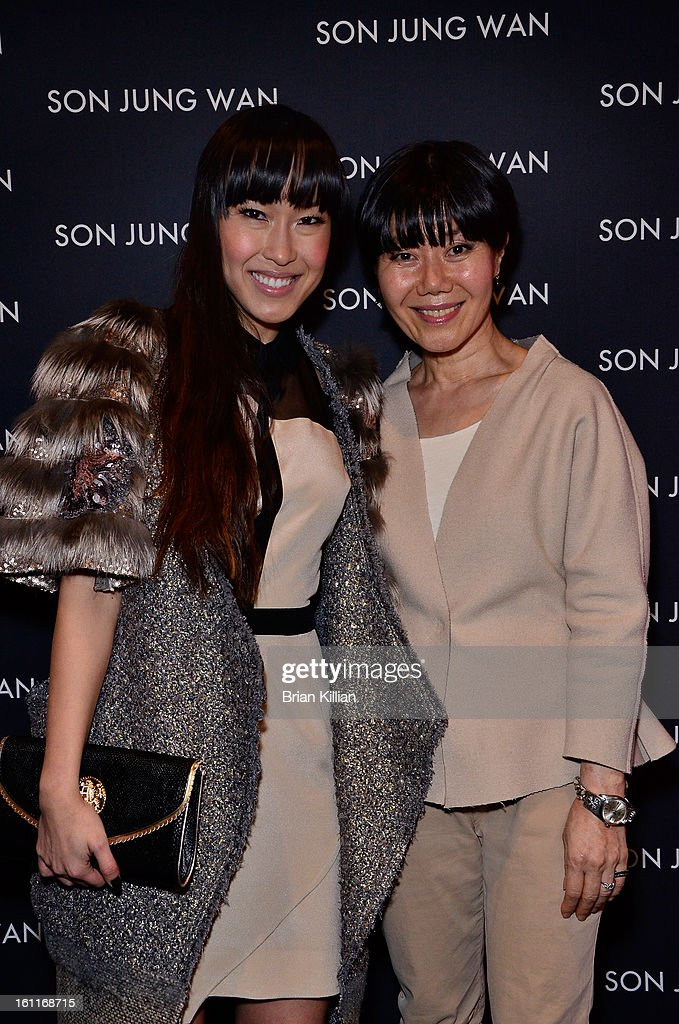 Singer Baiyu and designer Son Jung Wan attend Son Jung Wan during Fall 2013 Mercedes-Benz Fashion Week at The Studio at Lincoln Center on February 9, 2013 in New York City.