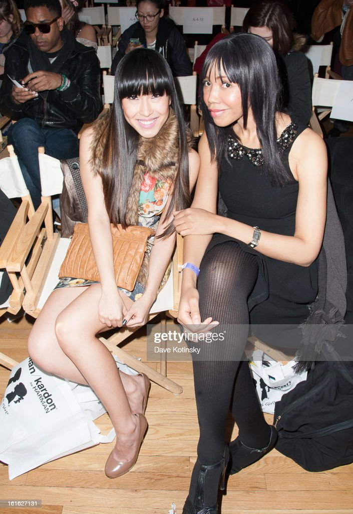 Singer Baiyu and Tia Walker attend the Boy Meets Girl By Stacy Igel 2013 Style360 Fashion Show at Style360 on February 13, 2013 in New York City.