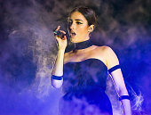 Singer Banks performs at The Palace of Auburn Hills on November 7 2015 in Auburn Hills Michigan