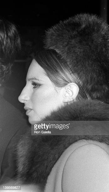Singer Barbara Streisand attends Young Artists Gala on May 6 1969 at the Union Carbide Gallery in New York City