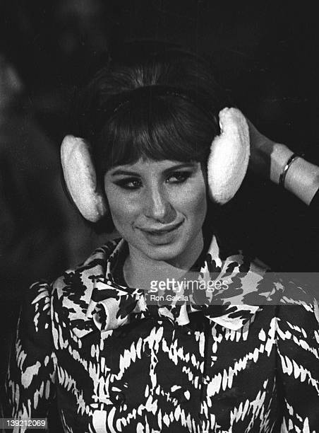Singer Barbara Streisand sighted on location filming 'On A Clear Day' on June 10 1969 at Central Park in New York City