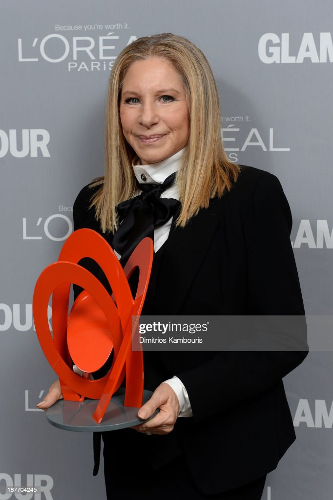 Singer <a gi-track='captionPersonalityLinkClicked' href=/galleries/search?phrase=Barbra+Streisand&family=editorial&specificpeople=200745 ng-click='$event.stopPropagation()'>Barbra Streisand</a> attends Glamour's 23rd annual Women of the Year awards on November 11, 2013 in New York City.