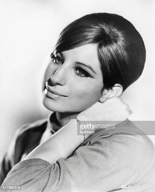 Singer Barbra Streisand is shown in this closeup portrait filed March 8 1969