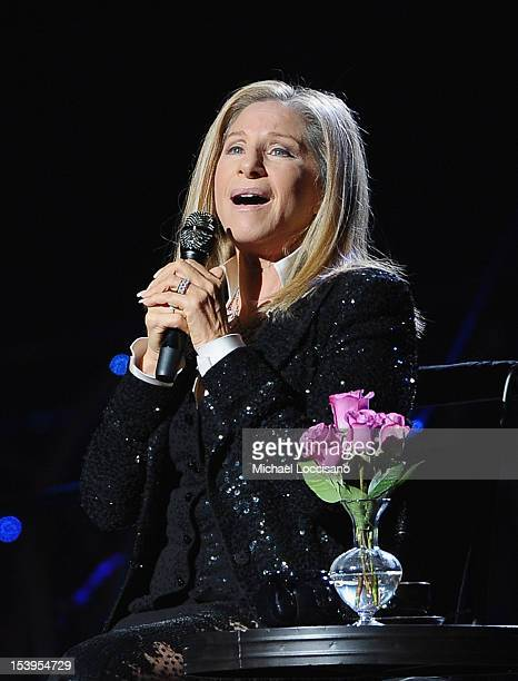 Singer Barbra Streisand performs at Barclays Center of Brooklyn on October 11 2012 in New York City
