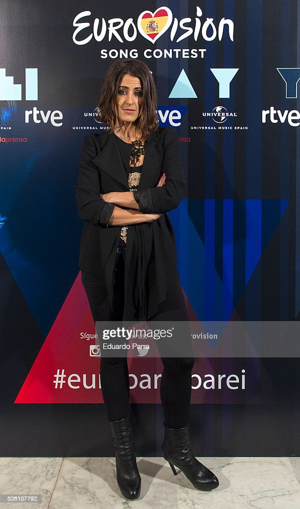 Singer Barei attends Eurovision accoustic concert photocall at Palacio de la Prensa on April 29, 2016 in Madrid, Spain.