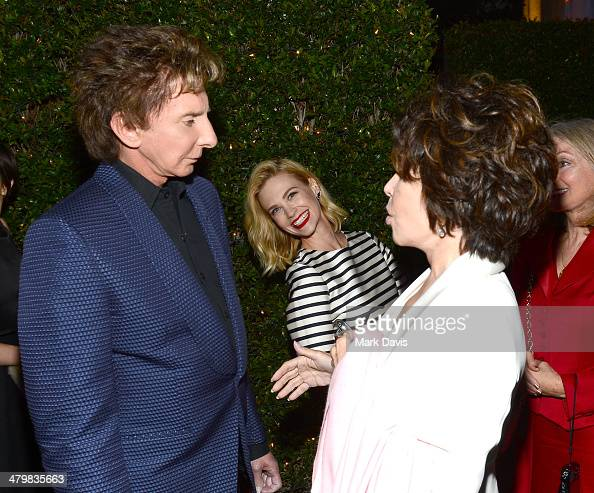 Singer Barry Manilow actress January Jones and singer Carole Bayer Sager attend the 2nd Annual 'Rebels With A Cause' Gala held at Paramount Studios...