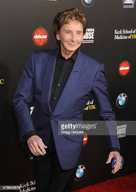 Singer Barry Manilow arrives at the 2nd Annual Rebel With A Cause Gala at Paramount Studios on March 20 2014 in Hollywood California