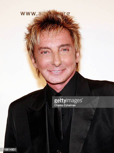 Singer Barry Manilow attends the 10th annual amfAR New York Gala on January 31 2008 at the 42nd Street Cipriani in New York City