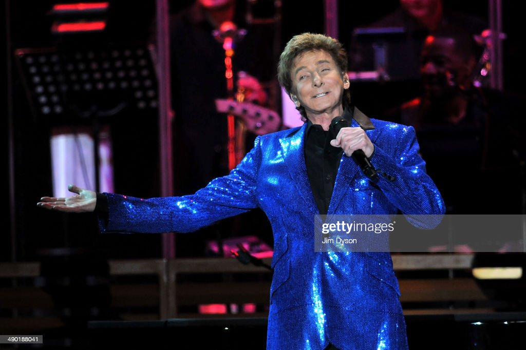 Singer Barry Manilow performs live on stage at Wembley Arena on May 13 2014 in London England