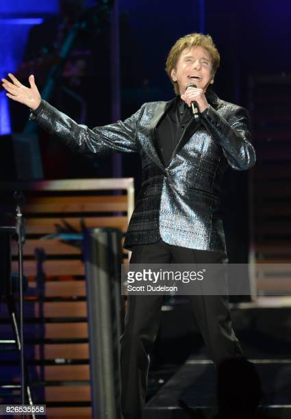 Singer Barry Manilow performs onstage at The Forum on August 4 2017 in Inglewood California
