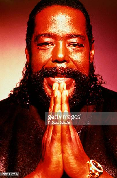 Singer Barry White is photographed for Silver Bullet Magazine in 1993