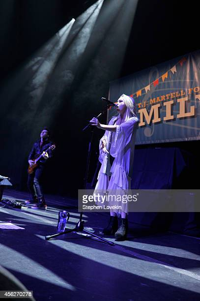 Singer Bea Miller performs during TJ Martell Foundation's 15th Annual Family Day Honoring Tom Corson President COO of RCA Records and his Family at...