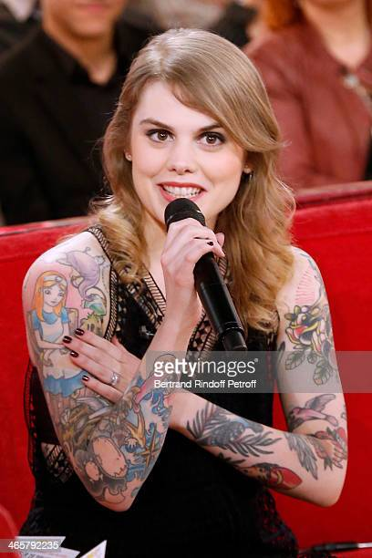 Singer Beatrice Martin 'Coeur de Pirate' attends the 'Vivement Dimanche' French TV show at Pavillon Gabriel on January 29 2014 in Paris France
