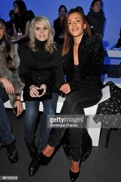 Singer Beatrice Martin known as Coeur de Pirate and Elsa Fayer attend the Christophe Josse HauteCouture show as part of the Paris Fashion Week...