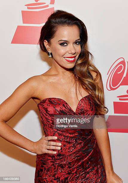 Singer Beatriz Luengo arrives at the 2012 Person of the Year honoring Caetano Veloso at the MGM Grand Garden Arena on November 14 2012 in Las Vegas...