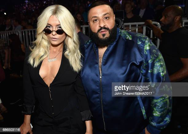 Singer Bebe Rexha and DJ Khaled attend the 2017 Billboard Music Awards at TMobile Arena on May 21 2017 in Las Vegas Nevada