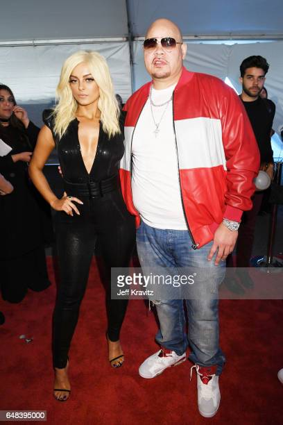 Singer Bebe Rexha and rapper Fat Joe attend the 2017 iHeartRadio Music Awards which broadcast live on Turner's TBS TNT and truTV at The Forum on...