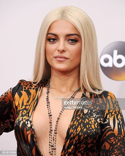 Singer Bebe Rexha arrives at the 2016 American Music Awards at Microsoft Theater on November 20 2016 in Los Angeles California