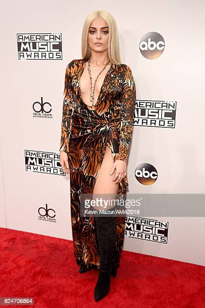 Singer Bebe Rexha attends the 2016 American Music Awards at Microsoft Theater on November 20 2016 in Los Angeles California