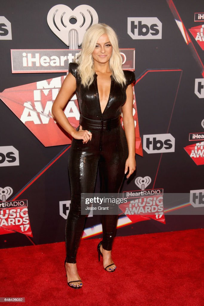 Singer Bebe Rexha attends the 2017 iHeartRadio Music Awards which broadcast live on Turner's TBS, TNT, and truTV at The Forum on March 5, 2017 in Inglewood, California.
