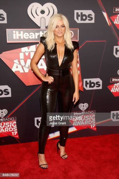 Singer Bebe Rexha attends the 2017 iHeartRadio Music Awards which broadcast live on Turner's TBS TNT and truTV at The Forum on March 5 2017 in...