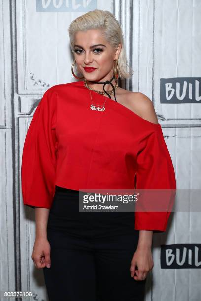 Singer Bebe Rexha discusses her new EP 'All Your Fault Pt 2' at Build Studio on June 29 2017 in New York City
