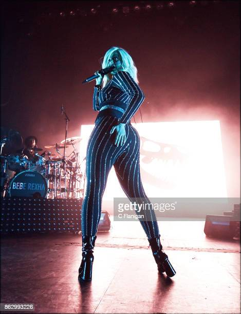 Singer Bebe Rexha performs during the 2017 Bebe Bassy Tour at The Regency San Francisco on October 18 2017 in San Francisco California