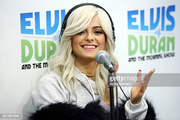Singer Bebe Rexha visits 'The Elvis Duran Z100 Morning Show' at Z100 Studio on January 17 2017 in New York City
