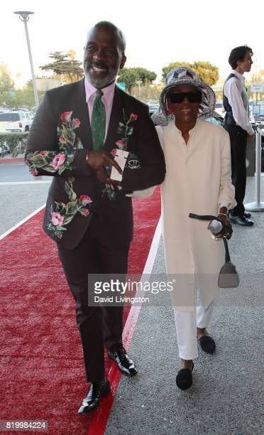 Singer BeBe Winans and actress Cicely Tyson attend the opening night of 'Born For This' at The Broad Stage on July 20 2017 in Santa Monica California