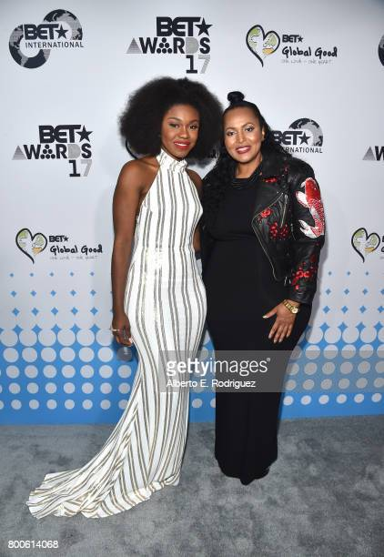 Singer Becca and BET International Vice President Programming Brand Advancement Ava L Hall attend the 2017 BET International Awards Presentation at...