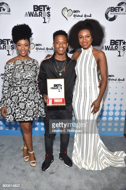 Singer Becca and guests attend the 2017 BET International Awards Presentation at Microsoft Theater on June 24 2017 in Los Angeles California