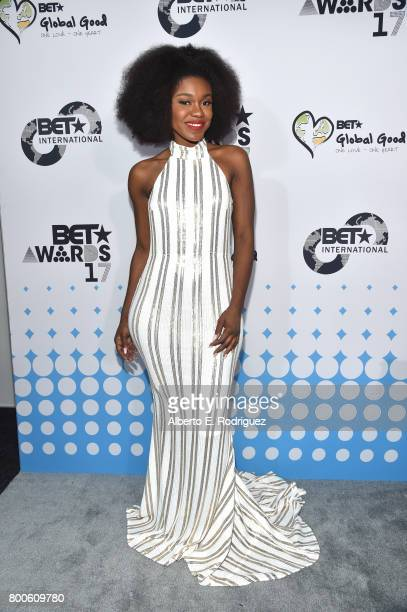 Singer Becca attends the 2017 BET International Awards Presentation at Microsoft Theater on June 24 2017 in Los Angeles California