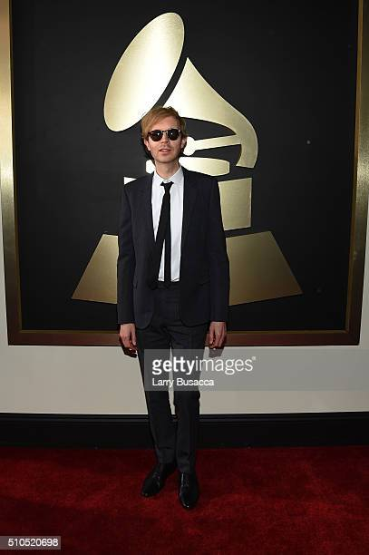 Singer Beck attends The 58th GRAMMY Awards at Staples Center on February 15 2016 in Los Angeles California