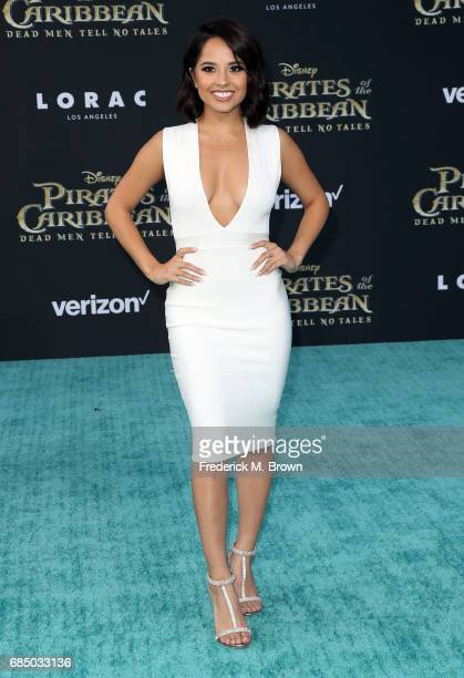 Singer Becky G attends the Premiere of Disney's 'Pirates of the Caribbean Dead Men Tell No Tales' at the Dolby Theatre on May 18 2017 in Hollywood...