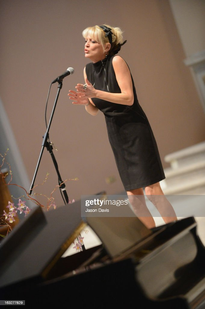 Singer Bekka Bramlett performs during the Mindy McCready Memorial Service at Cathedral of the Incarnation on March 6, 2013 in Nashville, Tennessee. McCready was found dead from an apparent suicide on February 17, 2013 at her home in Heber Springs, Arkansas.