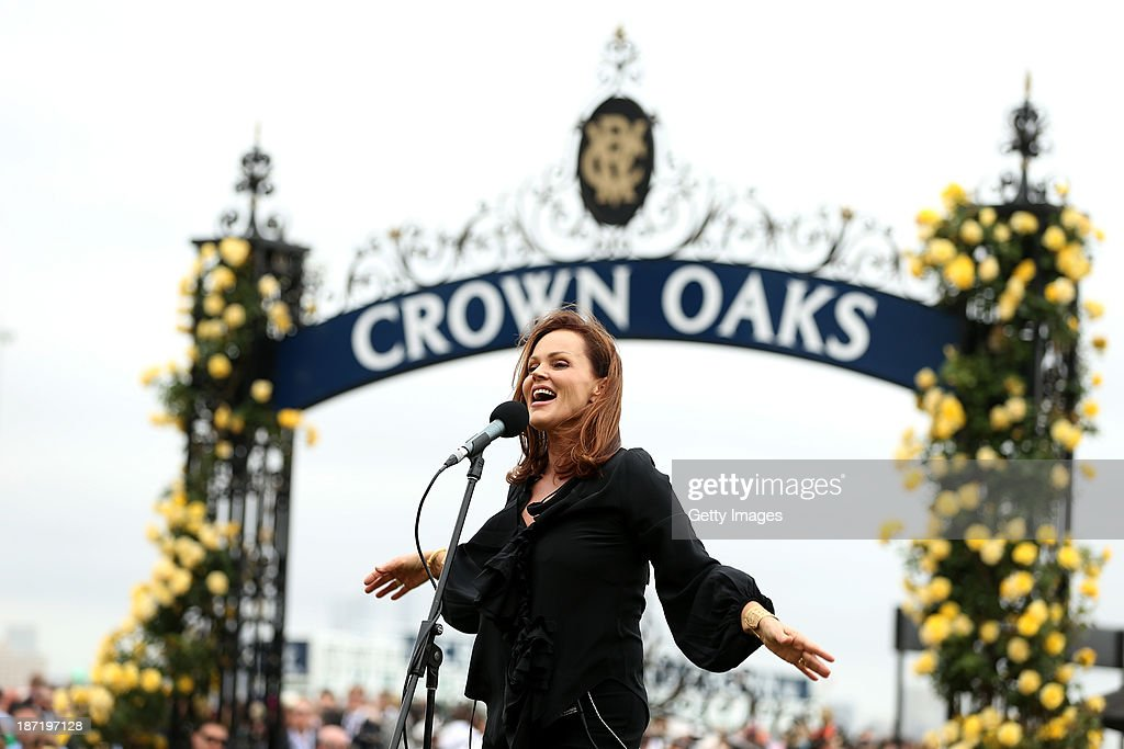 Singer <a gi-track='captionPersonalityLinkClicked' href=/galleries/search?phrase=Belinda+Carlisle&family=editorial&specificpeople=627936 ng-click='$event.stopPropagation()'>Belinda Carlisle</a> performs during Crown Oaks Day at Flemington Racecourse on November 7, 2013 in Melbourne, Australia.
