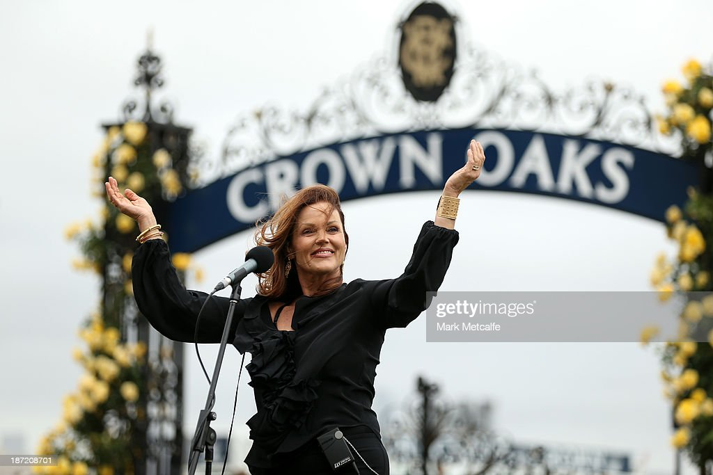 Singer <a gi-track='captionPersonalityLinkClicked' href=/galleries/search?phrase=Belinda+Carlisle&family=editorial&specificpeople=627936 ng-click='$event.stopPropagation()'>Belinda Carlisle</a> performs during Oaks Day at Flemington Racecourse on November 7, 2013 in Melbourne, Australia.