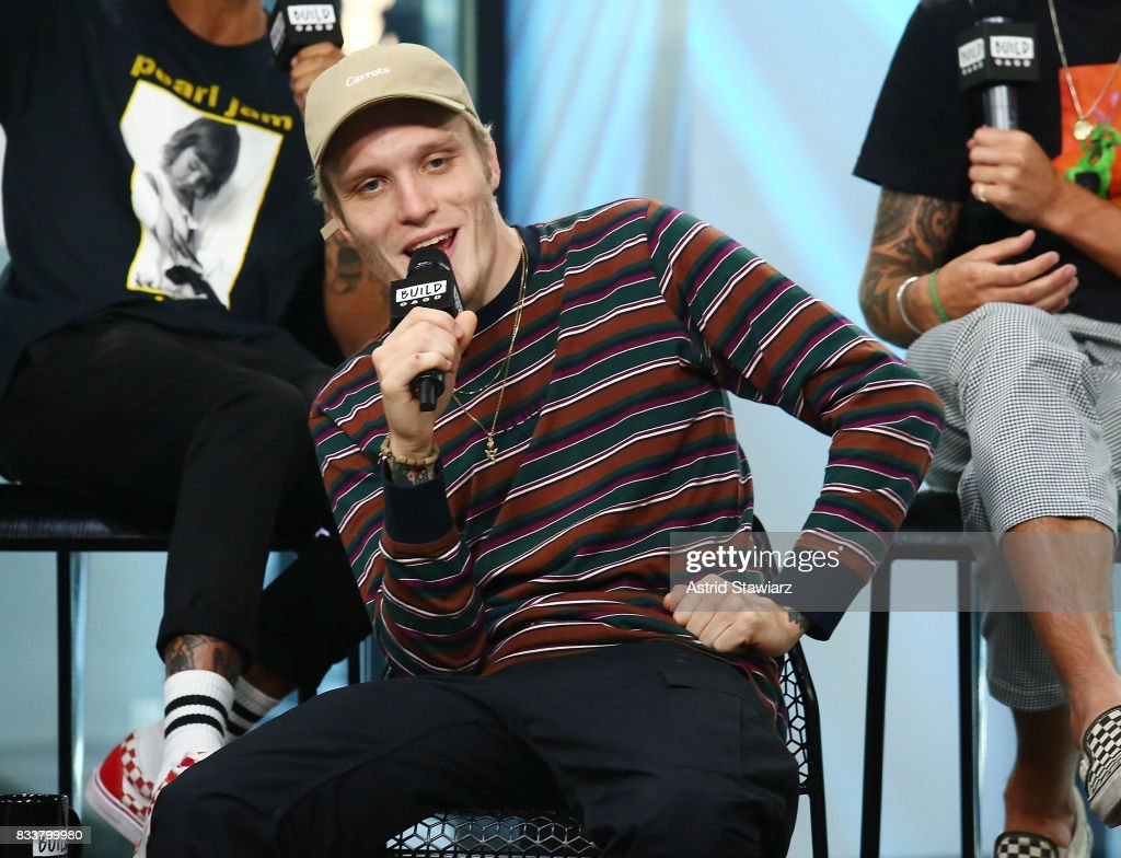 Singer Ben Barlow from the pop punk band Neck Deep discusses the album 'The Peace and The Panic' at Build Studio on August 17, 2017 in New York City.