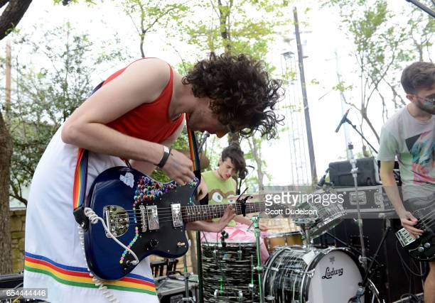 Singer Ben Hopkins of the band PWR BTTM performs onstage during the Pitchfork SXSW Day Party at the French Legation Museum on March 16 2017 in Austin...
