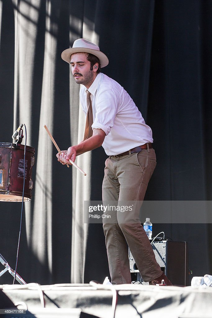 Singer Ben Schneider of Lord Huron performs at the Squamish Valley Music Festival on August 10, 2014 in Squamish, Canada.