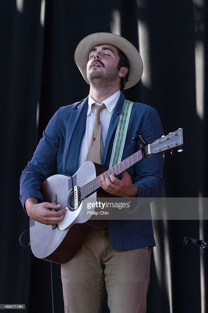 Singer Ben Schneider of Lord Huron performs at the Squamish Valley Music Festival on August 10 2014 in Squamish Canada