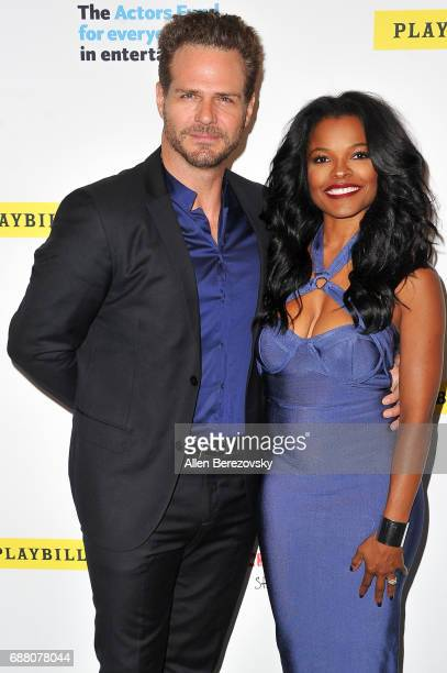 Singer Ben Sharp and actress Keesha Sharp attend Concert for America Stand Up Sing Out at Royce Hall on May 24 2017 in Los Angeles California